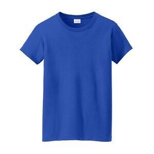 Gildan-Ladies-Ultra-Cotton-Womens-Short-Sleeve-T-Shirt-MEDIUM-ROYAL-2000L
