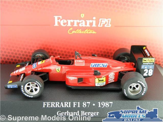 Ferrari F1 87 Modelo de Coche 1 43 43 43 Escala Ixo Gerhard Berger 7174022 K Colección Atlas 5e775b