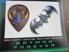 Batman tattoo ebay for Wonder woman temporary tattoo