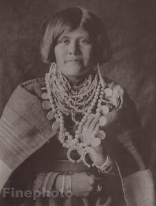 c.1900/72 Photogravure NATIVE AMERICAN INDIAN Female Costume EDWARD CURTIS 11x14