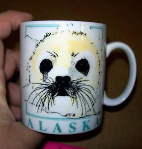 Alaska-Seal-on-an-11-ounce-Coffee-mug-New-amp-Unused-great-Alaska-souvenir