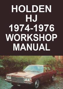 holden hj 1974 1976 workshop manual ebay rh ebay com au hj holden workshop manual hj holden workshop manual pdf