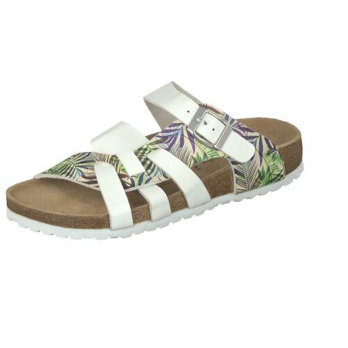 Supersoft Damen Schuhe 274-769-000-193 Hausschuhe Pantoffel Lederfußbett Weiß