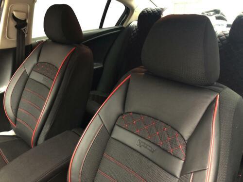 Sitzbezüge Schonbezüge für Mercedes-Benz GLC schwarz-rot V2425075 Vordersitze