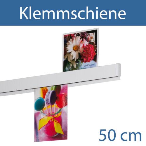 Klemmschiene Klemmleiste Wandklemmschiene Papierklemmleiste50 cm