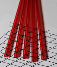 2 Pc 12 Od X 14 Id X 12 Inch Long Clear Red Acrylic Plexiglass Lucite Tubes