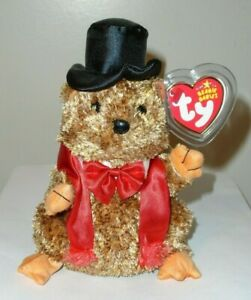 Ty Beanie Baby - PUNXSUTAWNEY PHIL 2007 Groundhog (COC PA Exclusive) MINT TAGS