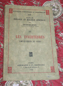 1934-Les-invertebres-Coelenteres-et-vers-Bohn-Zoologie-science-entomologie