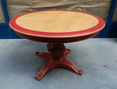 Tavolo Rotondo Ovale Con 3 Allunghe Laccato Con Piano In Finto Marmo Ebay
