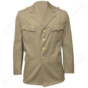 bcd7c251918 Image is loading German-Tropical-Khaki-Jacket-Army-Military-Naval-Surplus-