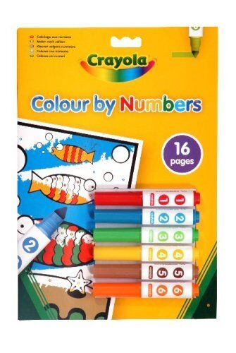 Crayola Colour By Number Mini Markers 6
