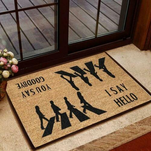 Best Gift For Family. The Beatles Abbey Road Hello And Goodbye Velvet Doormat