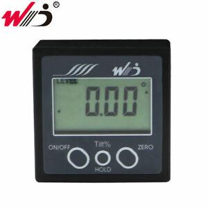 Mini Digital Level Scale Inclinometer Box Protractor Magnetic Bevel Angle Gauge