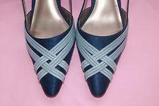 Jacques Vert  Teal Blue Aqua Sling Back Shoes New without Box  UK 5 EU 38