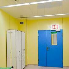 Led Exit Sign Emergency Lighthi Output Compact Combo Ul Listed Red Ac 110 120v