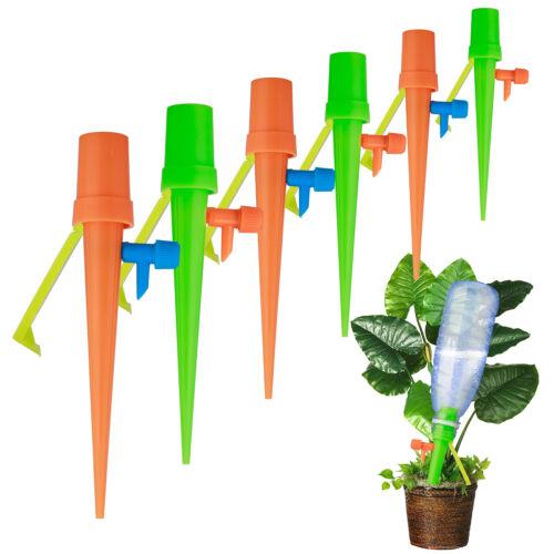 6X//12X Einstellbar Automatische Pflanzen Tropfbewässerung Wasser Stakes Spikes
