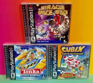 Cubix-Robots-Tonka-Space-Miracle-Race-Playstation-1-2-PS1-PS2-Games-Disney