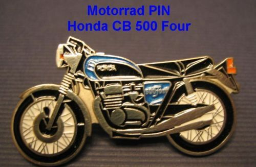 CB500F four Anstecknadel Anstecker Motorrad PIN Honda CB 500 F badge Metall