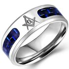 8MM Size 7-14 Stainless Steel Masonic Ring Titanium Wedding Band Cocktail Party