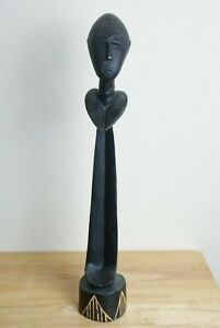 """African Wooden Carved Face Figure  20"""" Tall"""