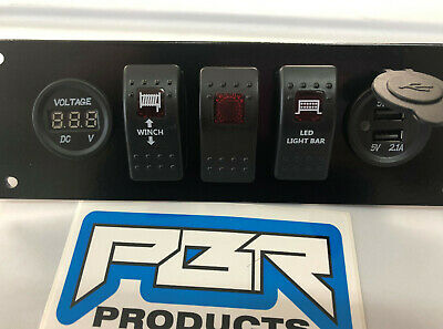 Light bar VOLTMETER Honda Pioneer 700 Switch Plate INCLUDED Winch Rear lights