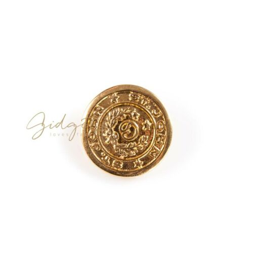 John Gold Metal Laurel SJ Logo Round Metal Replacement Buttons 24mm 19mm St