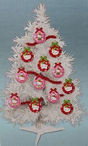 "HELLO KITTY 23"" CHRISTMAS TREE 12 Ornaments Girls Decoration Mini Tabletop NEW"