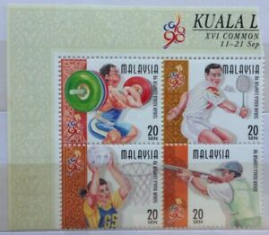 Malaysia-Stamps-MNH-4-pcs-1998-Commonwealth-Games-20-sen-Se-Tenants-Stamps