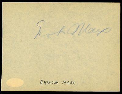 Entertainment Memorabilia Fast Deliver Groucho Marx & Jesse L Lasky Authentic Hand-signed 5x6 Cut jsa Coa/loa