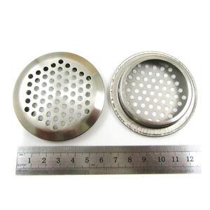 1 X Stainless Steel Plug Hole 52mm Sink Strainer Bathroom Basin Hair Trap H611