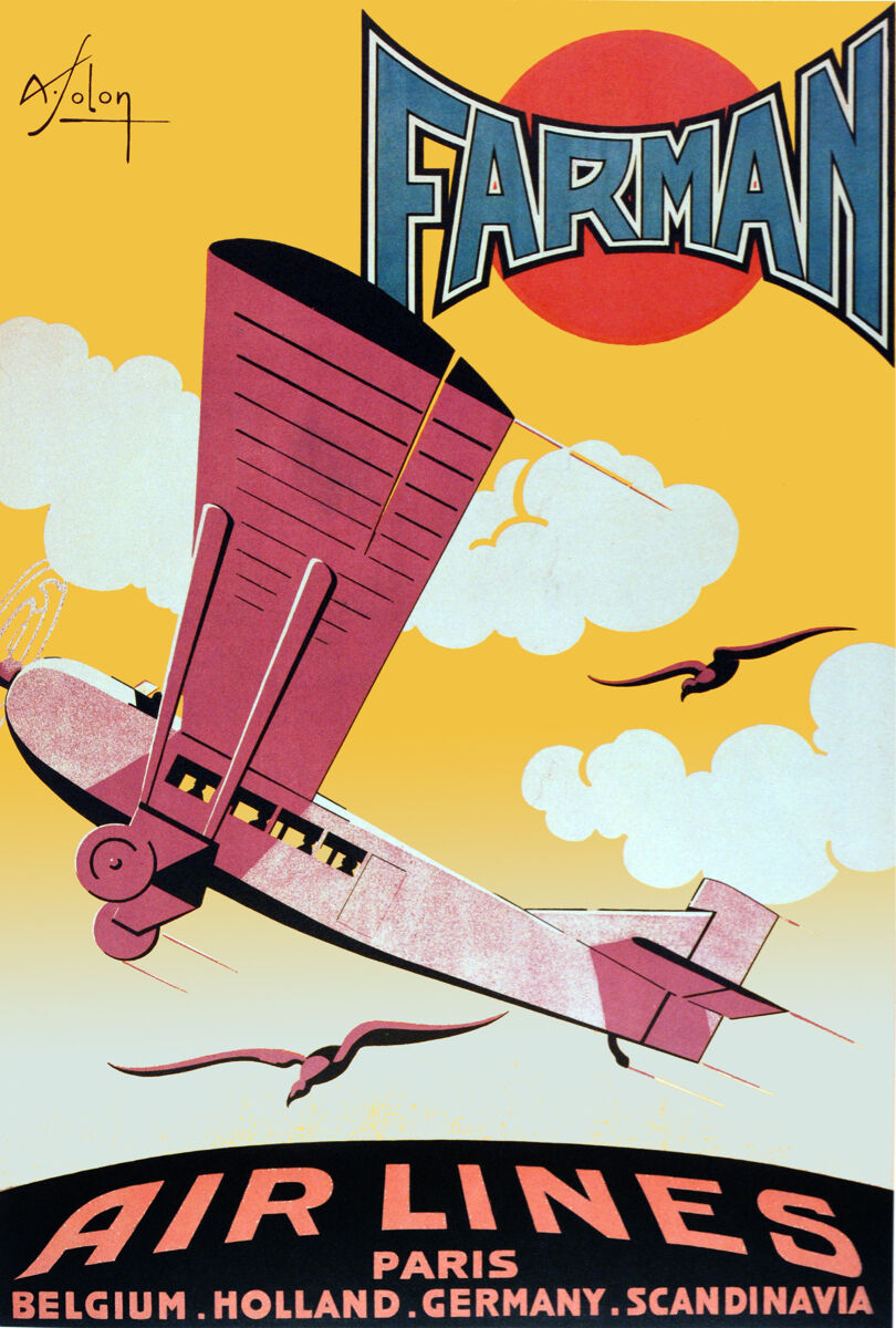 Aviation Vintage Decoration & Design Poster.FARMAN.Home Wand Kunst Decor1052i