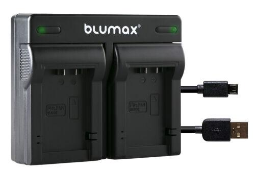 Bateria dual cargador para Panasonic Lumix dmc-fz48 dmc-fz60 dcm-fz6290108-90640