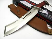 Gil Hibben Brown Wood 17-1/2 Hibben Iv Combat Machete Knife + Sheath Gh5008