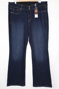 Lane-Bryant-Women-039-s-High-Rise-Boot-Essential-Stretch-Tighter-Tummy-Dark-Wash