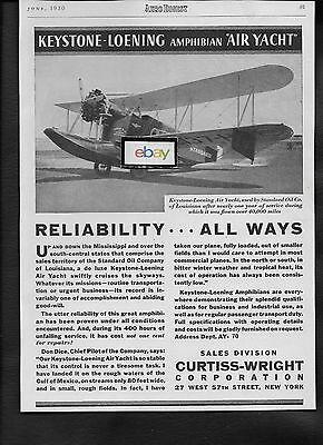 Luftfahrt & Zeppelin Keystone-loening Luft Jacht Wasserflugzeug Standard Öl Co Louisiana 1930 Curtiss Transport