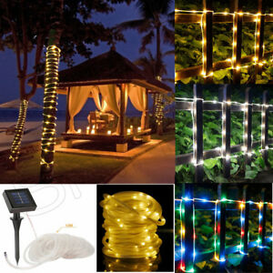 12m 100led solar lichterkette lichtschlauch au en innen beleuchtung party deko. Black Bedroom Furniture Sets. Home Design Ideas