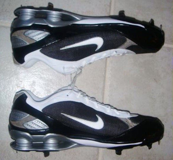 factory authentic 2126f c4139 Nike Shox Fuse Black White Metal Spikes Baseball Softball Cleats Mens Sz 16  for sale online   eBay