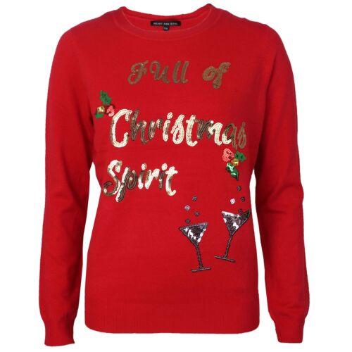 Womens Ladies Novelty Christmas Pudding Mistletoe 3D Bells Xmas Jumper Sweater