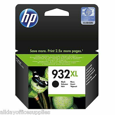 Original HP 932XL High Yield Black Ink Cartridge (CN053AE)- *Up to £30 Cashback*