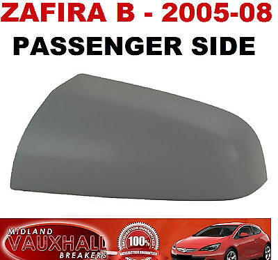 Wing Mirror Cover Left 2005 on N//S Passenger Side VAUXHALL ZAFIRA B 1.8 Door