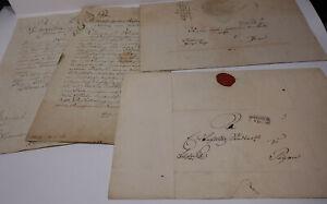 Signatur Hans Ludwig Von Oppell Elegant Appearance 4 Briefe Dresden Nach Pegau 1826-1832
