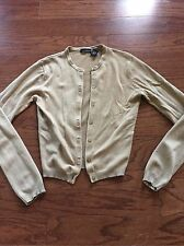 Victoria's Secret/ Moda International Camel, Tan Cashmere Cardigan Sz XS