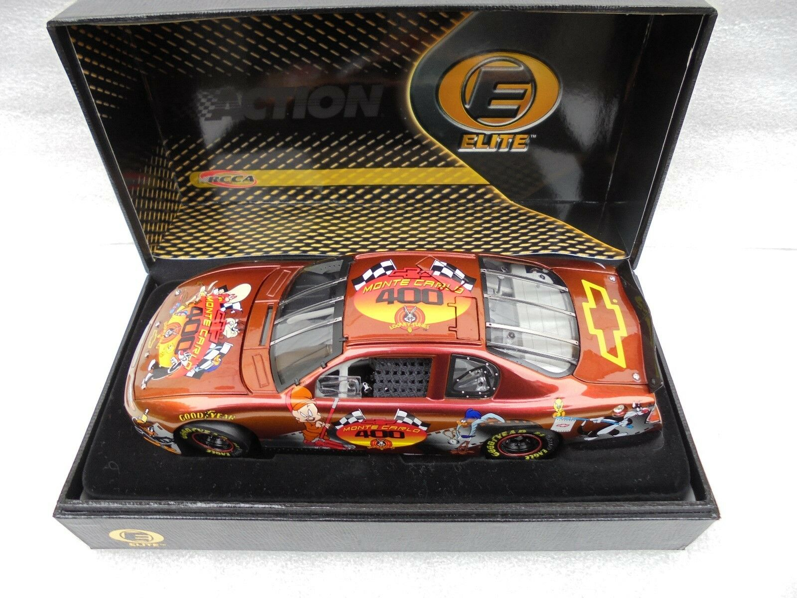 LOONEY TUNES 2001 Event Car Action RCCA ELITE 1 24th Nascar Diecast Collectible