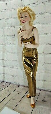 Franklin Mint Marilyn Monroe Porcelain Doll Always Marilyn With Stand Ebay