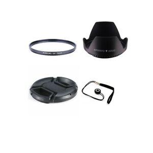 72mm-UV-Ultra-Violet-Filter-Lens-Hood-Lens-Cap-amp-Anti-lost-cord-For-Camera-Lens