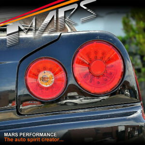 Image Is Loading Red Clear LED Tail Lights For Nissan R34