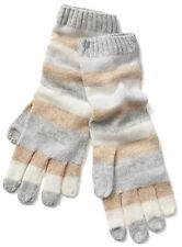 Gap NWT Grey Crazy Stripe Merino Wool Blend Smartphone Gloves One Size $30