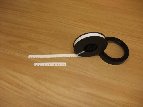 Standard 8 mm white leader film