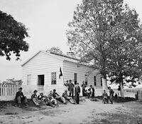 8x10 Civil War Photo- Signal Corps Camp Near Georgetown Washington Dc 1862
