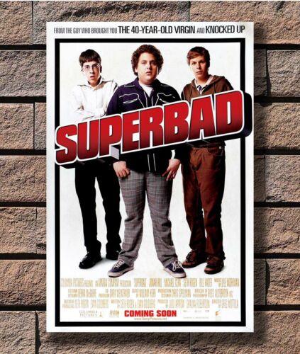 Art Poster 24x36 27x40 SUPERBAD 2007 Classic Movie JONAH HILL MICHAEL CERA T1551